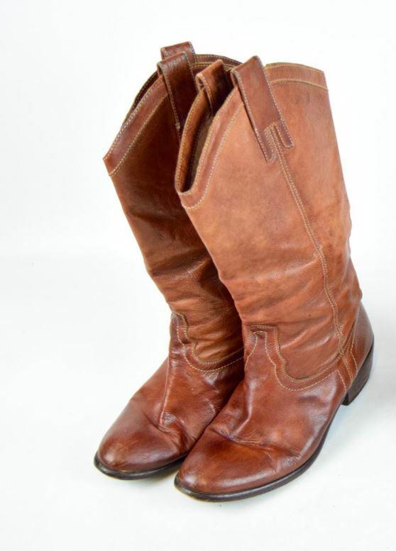 Carvela marrón botas, nos 9 tacón 2.5