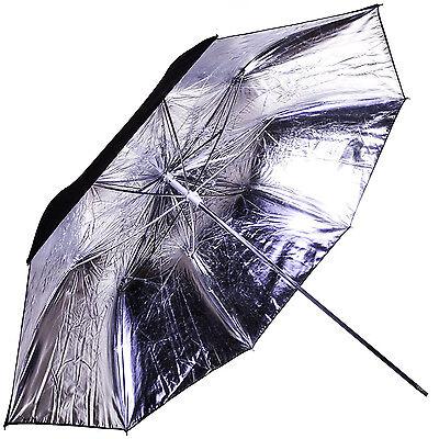 "Interfit Strobies Str213 39"" Silver Lighting Umbrella (w/ Black Backing)"