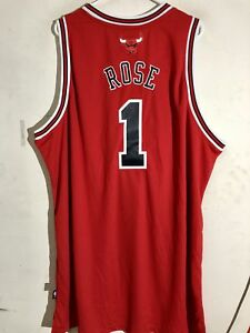 Adidas Swingman NBA Jersey Chicago Bulls Derrick Rose Red sz