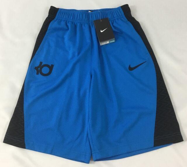 best service 6c345 8a595 Nike KD Kevin Durant Boys Basketball Dri-Fit Shorts Blue Black 724737 Size S