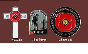 11-11-11-Soldier-cross-and-Honour-Poppy-Wartime-remembrance-Enamel-Pin-Badges