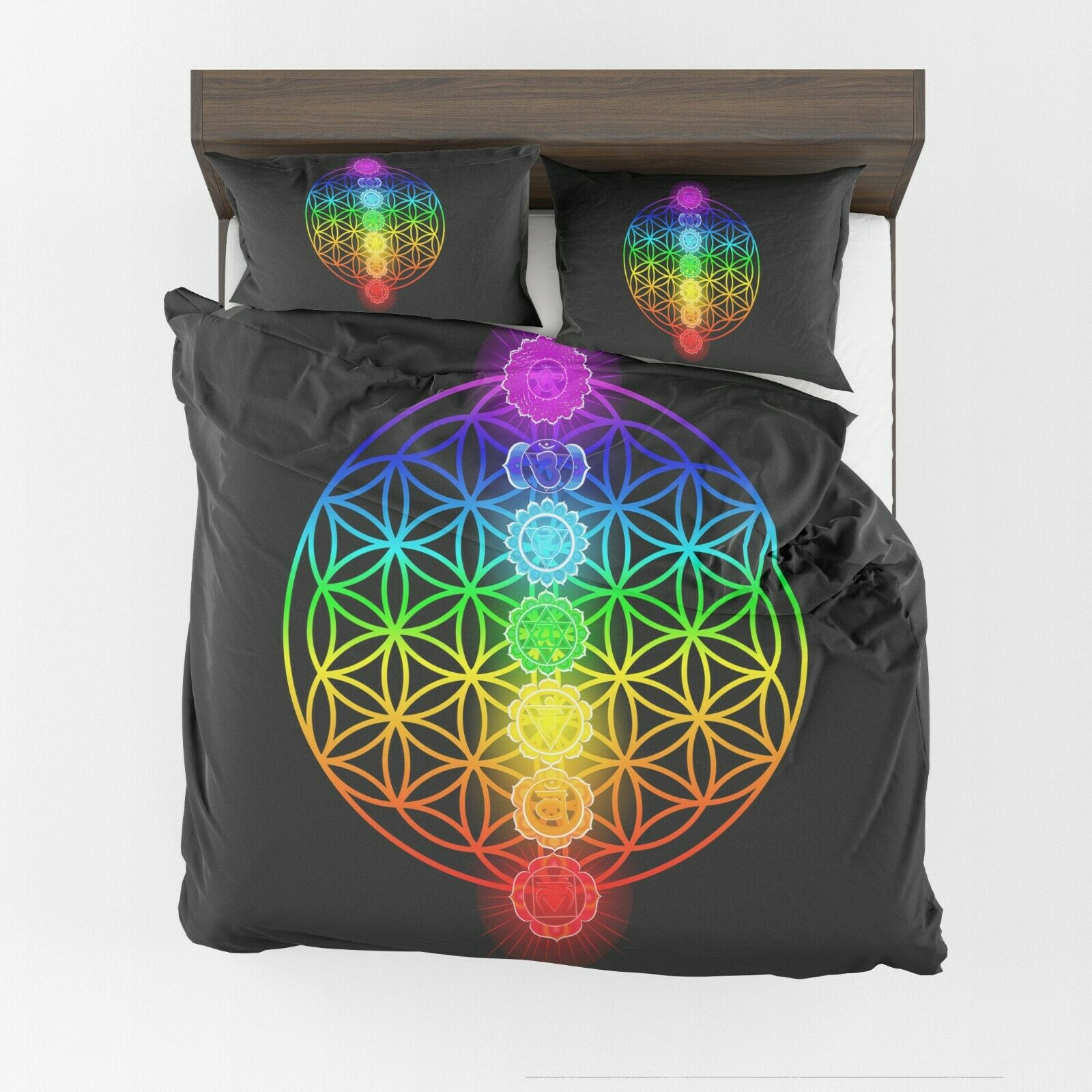 FFaibleer of Life Comforter or Duvet Cover chakra bedding sacrouge geometry bedding