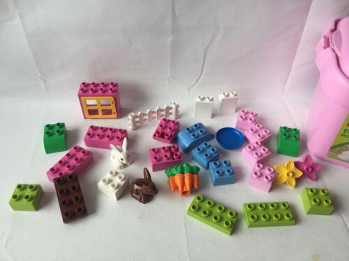 komplett LEGO Duplo Mädchenset Steine Box Set 4623 ohne Box Steine Hasen