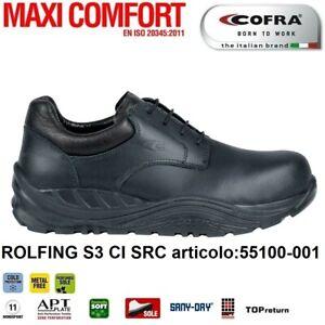 SCARPE-ANTINFORTUNISTICA-COFRA-ROLFING-S3-CI-SRC-pelle-idrorepellente-Metal-Free