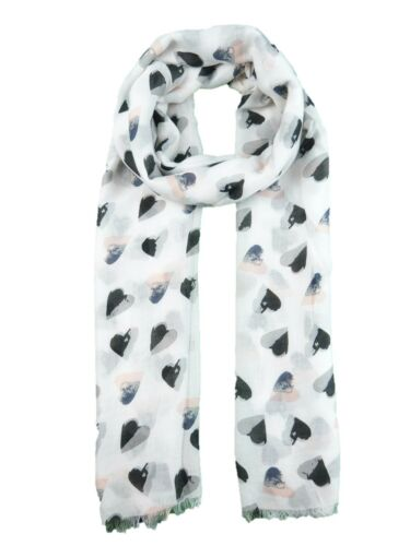 Heart Print Scarves  Shawl Scarf Wrap Hijab Good Quality 2 Colours Available