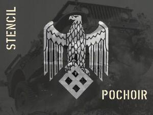 POCHOIR REUTILISABLE  30CM EAGLE 2 DEUTSCH GERMAN ww2