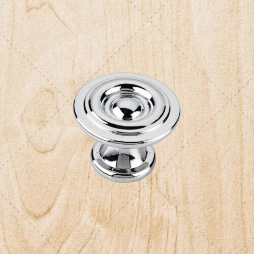 "Kitchen Cabinet Hardware Knobs kc75 Polished Chrome pull 1-3//16/"" Diameter"