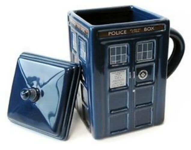 Doctor Who Tardis Mug with Removable Lid New In Box