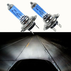 2x-Car-Super-White-Headlight-H7-55W-12V-6000K-Xenon-Gas-Halogen-Light-Lamp-Bulbs