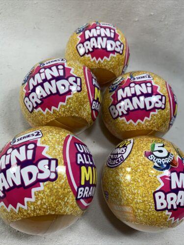 5 Surprise Mini Brands Series 2-5 Balls ZURU New /& Sealed