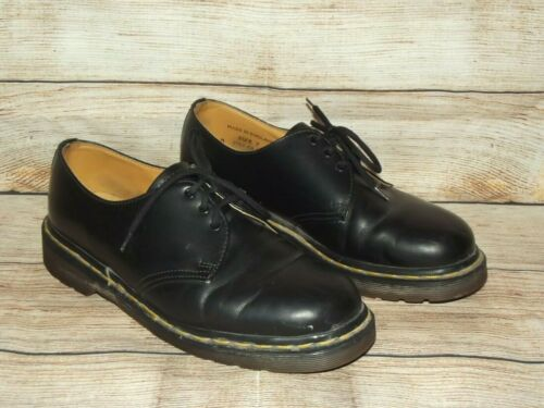 DR. MARTENS Black Leather Oxfords MADE IN ENGLAND