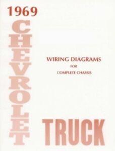Chevrolet 1969 Truck Wiring Diagram 69 Chevy Pick Up Ebay