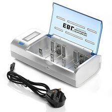 EBL 906 Universal LCD Display Battery Charger & Discharger for AA AAA C D 9V ...