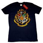 Harry Potter Hogwarts School Crest Badge Colour Print OFFICIAL Unisex T-Shirt14E
