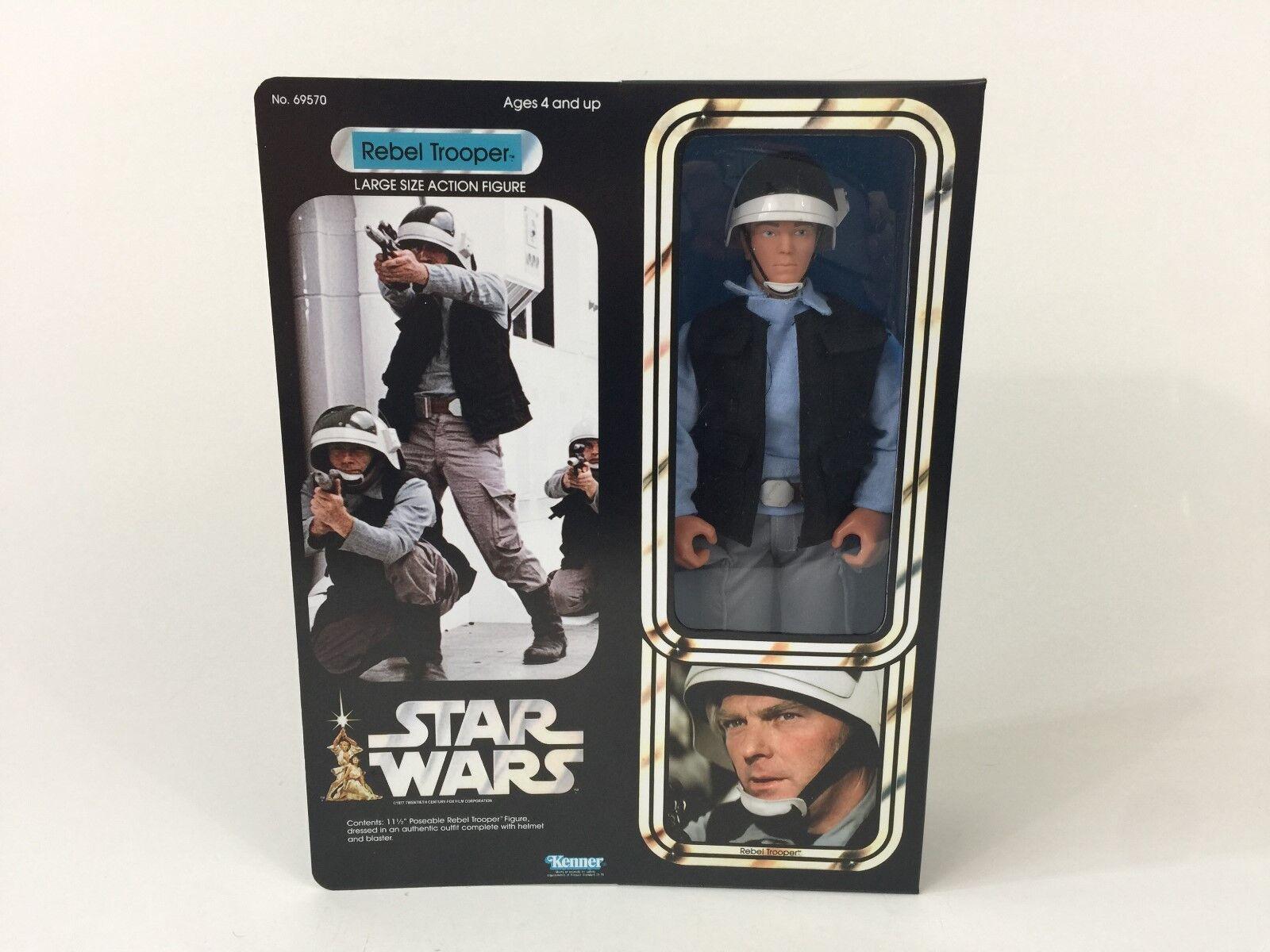 Custom vintage Star wars 12  rebel rebel rebel trooper box + inserts 711de6