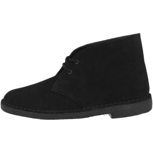 Clarks Desert Boot Women Schuhe Damen Boots Schnürschuhe black suede 26138214