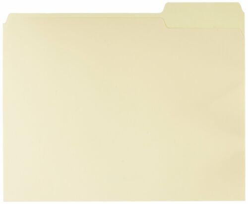 100 PACK Manilla Folders Letter Size File Folders with Reinforced Tab Heavy Duty