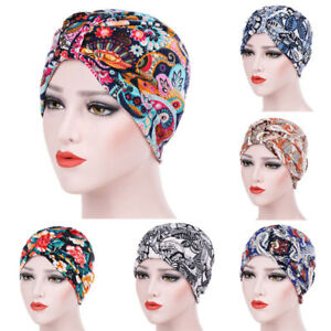 NEW-Women-India-Muslim-Ruffle-Cancer-Chemo-Hat-Beanie-Scarf-Turban-Head-Wrap-Cap