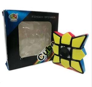 Fanxin-1x3x3-Floppy-Fidget-Finger-Spinner-Rubik-039-s-Cube-Black