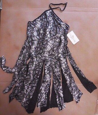 NWT Praisewear Black Silver Burnout Halter Tunic w// flyers ch//ladies sizes