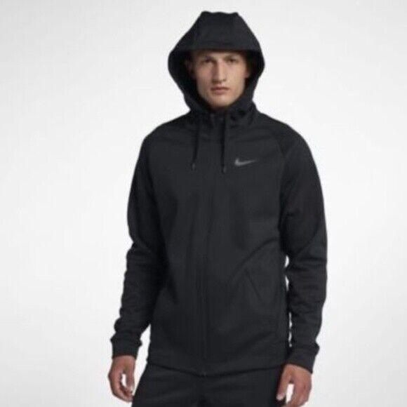 Porque Calificación Seminario  Men Nike Therma Full Zip Fleece Hoodie Jacket Black Medium Aj4450 010 for  sale online | eBay