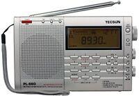 Tecsun Pl660 Am Fm Sw Air Ssb Synchronous Radio Silver