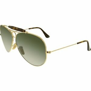 3185bfc38c3 Ray-Ban Rb3138 181 Shooter Havana Gold Frame Green Classic 62mm Lens ...