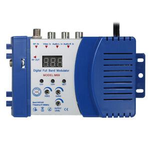 Modulatore RF compatto Video TV Converter Amplificatore segnale Banda completa
