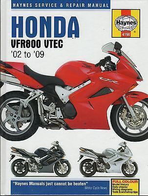 2002-2009 Honda VFR800 VTEC Haynes Service Repair Maintenance ...