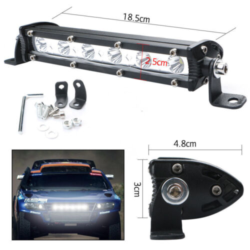 "2X 7/"" 18W LED Slim Work Lights Bar Spot Off-Road Driving SUV 4x4 Bullbar 12-24v"