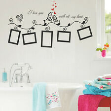 Wall Sticker Decal For Decor Home Family Picture Photo Frame Black Bird Design+