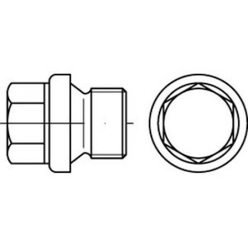 25 x  Verschlussschrauben mit Bund undAußensechskant DIN 910 Stahl M 22 x 1,5