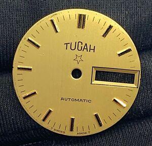 Tucah-Automatique-Sphere-Montre-Vintage-Cadran-Piece-de-Rechange-Day-Date