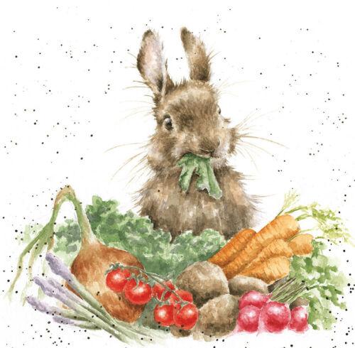 """Wrendale Karte /""""Grow your own/"""" mit Hase"""