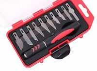 11pc Precision Knife Set Razor Blade Carving Cutting Tool Arts & Craft Hobby Kit