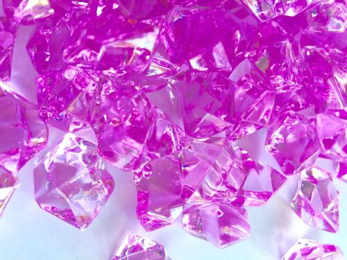 8Lb Crystal Acrylic Ice Rock Vase Gems//Table Scatters Medium 2.5cm, Lavender
