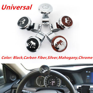 1pc Car Truck Steering Wheel Aid Power Handle Spinner Knob Ball Universal Black Controllers