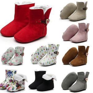 Infant-Toddler-Baby-Girls-Floral-Print-Warm-Boots-First-Walkers-Shoes-Windproof