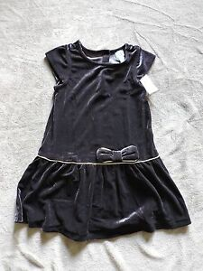 NWT-BabyGap-Girl-039-s-Dress-W-Golden-Ribbon-Bow-Holiday-Toddler-18-24-month