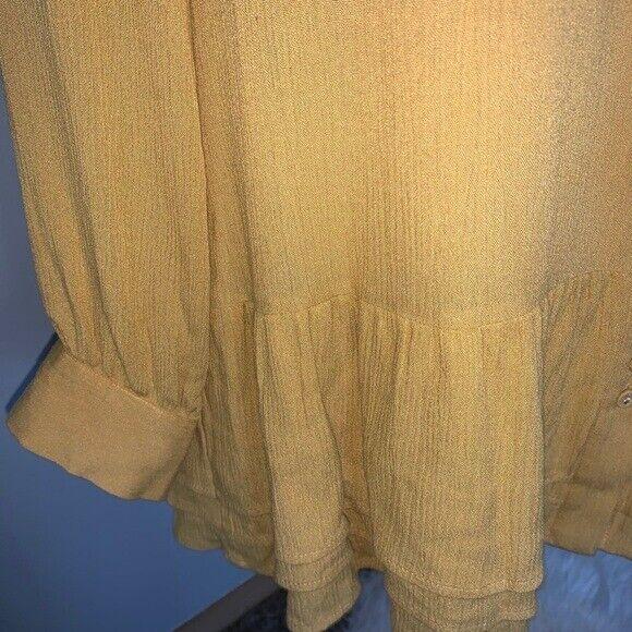 Soft Surroundings mustard yellow tunic blouse Sz M - image 8