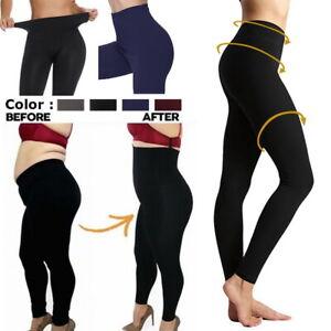 Para-mujeres-cintura-alta-Leggings-Pantalones-de-Yoga-Estiramiento-Tummy-Control-Entrenamiento-Capa