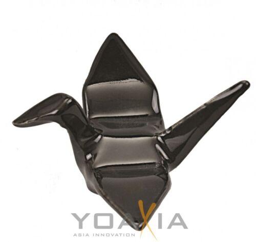 Des baguettes-papiers en forme de grue noir 5x6cm bänkchen//chopstickrest