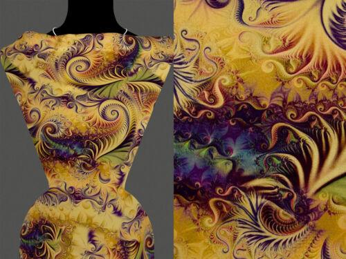50cm Stoff VISKOSE Orient orientalisch Abstrakt Muster beige 22,80 €//m