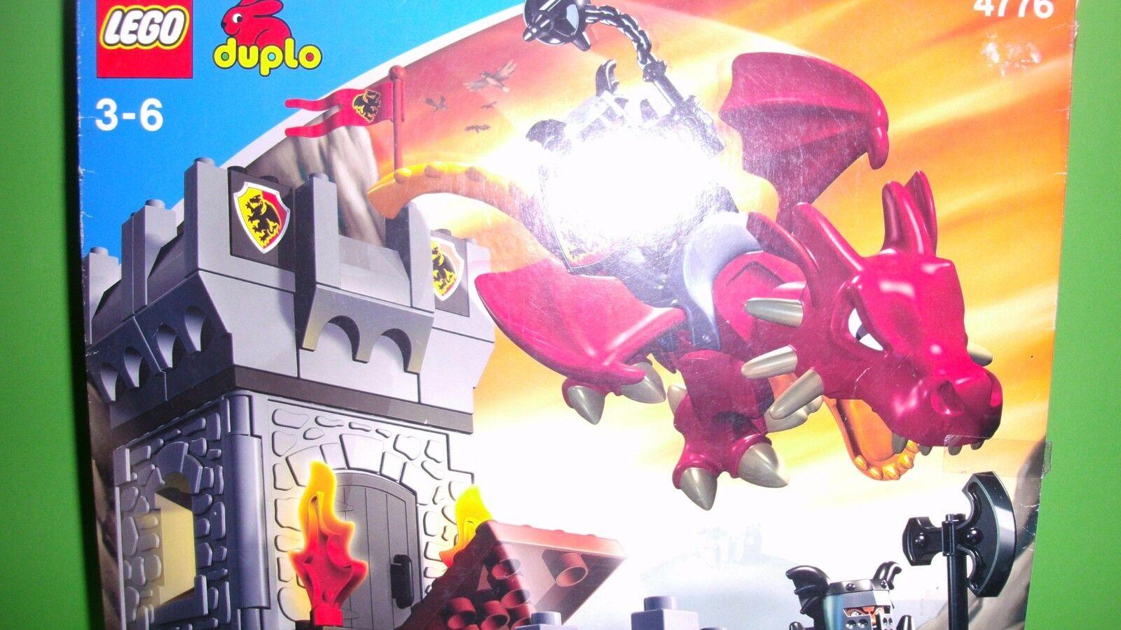 LEGO DUPLO Ritterburg 4776 Glaciers, dragon, neuf dans sa boîte, de recette, entièrement