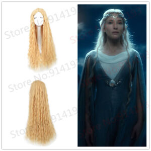 The Hobbit Elf Galadriel Wig Lord Of The Ring Long Curly Wig Blonde
