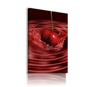 CHERRIES-FRUITS-KITCHEN-Canvas-Wall-Art-Picture-Large-SIZES-F15
