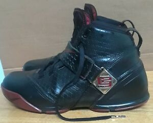 promo code 628f9 70a86 Image is loading Nike-Zoom-Lebron-V-5-Black-Crimson-Gold-