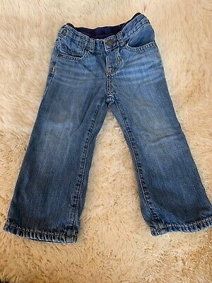Boys` New GAP Flannel Lined Warm Winter Jeans Age 17-18 Dark Blue Authentic