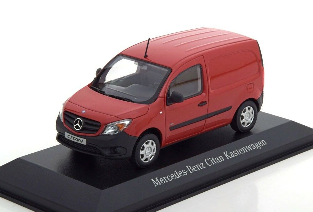MERCEDES CITAN CDI W415 AMARENA RED CODE 3 VAN 1 43 MINICHAMPS (DEALER MODEL)
