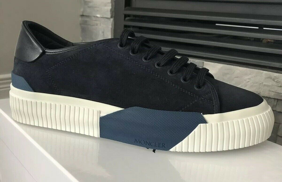 New W Box Moncler CONRAD bluee Suede Sneakers Rare Size And color Size 42.5   9.5